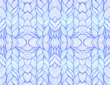 Blue abstract seamless pattern