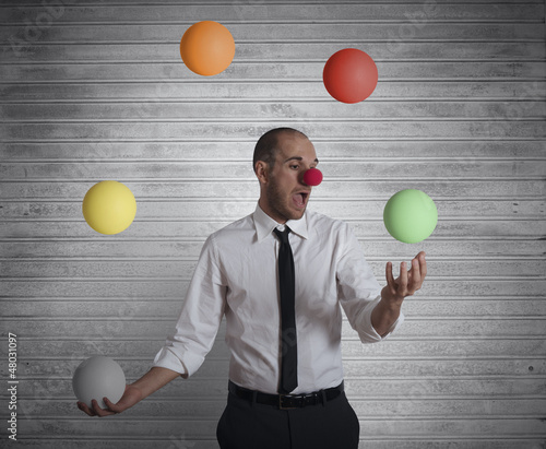 Juggler businessman