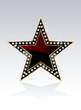 red golden star