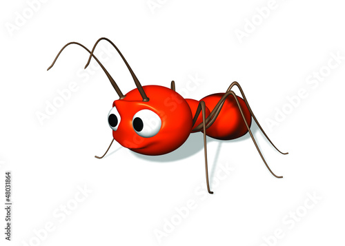 A 3D ant illustration
