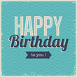 Vintage retro happy birthday card, with fonts