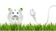 Sparschweinchen mit Stromkabel - 48032897