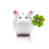 Glücksschweinchen mit Kleeblatt