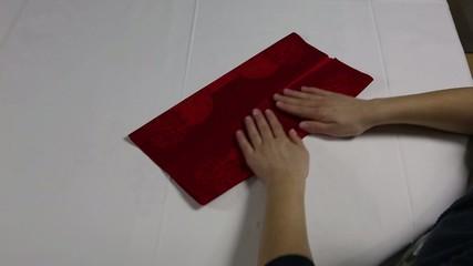 Servietten Falttechnik Stern