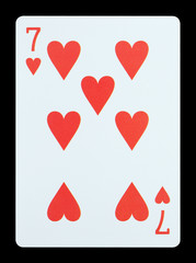 Playing cards - Seven of hearts