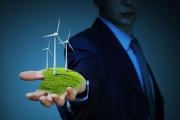 clean energy. windmills