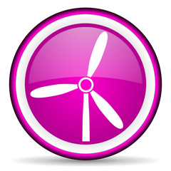 windmill violet glossy icon on white background