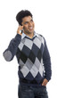 Young man talking in phone.