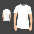 Front / back white shirt design. Vector illustration.