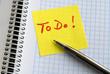 To Do, Aufgabe, Erledigung, Selbstorganisation, Zeitmanagement