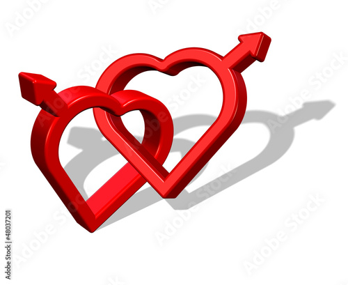 Gay love symbol, illustration.