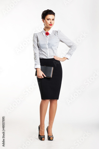Business woman  isolated over white background