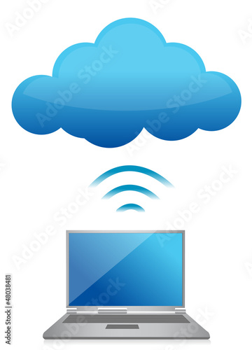 modern laptop send files to cloud server