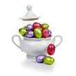 Sugar bowl with Easter eggs