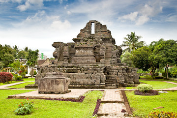 Candi Jago Temple  near by Malang on  Java, Indonesia.