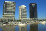 Highrise buildings at the docklands in melbourne australia