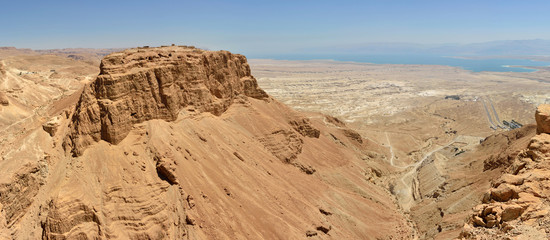 Masada panoramic view.