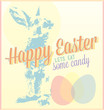 Vintage Happy Easter Card and Wallpaper