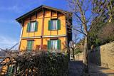 Townscape of Bergamo city, Lombardy, Italy poster