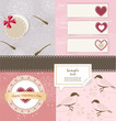 Valentine`s Day scrapbook elements