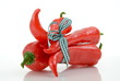 Rote Paprika gebunden