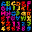 Colorful Hand Drawn Alphabet and Numbers