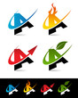 Swoosh Alphabet Icons A
