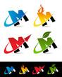 Swoosh Alphabet Icons M