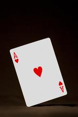 Ace of hearts balancing - portrait