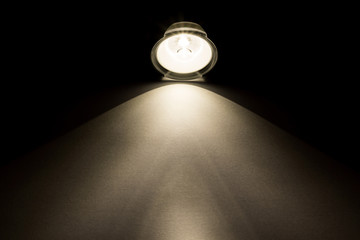 light beam from flashlight