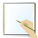 blank sketchbook vector