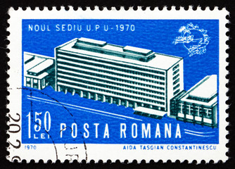 Postage stamp Romania 1970 UPU Headquarters, Bern