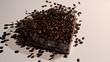 Coffee beans heart.