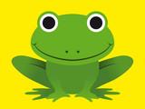 Fototapety Cute happy smiling green frog