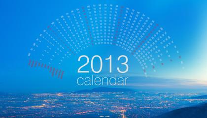 Cityscape at dusk 2013 calendar