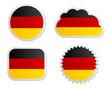 Fahne Deutschland Sticker