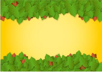Fondo stagione con foglie di edera vector