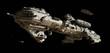 Leinwanddruck Bild - Interstellar Futuristic Escort Frigate
