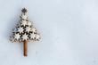 Zimtsterne Weihnachtsbaum auf Eis