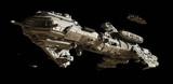 Interstellar Futuristic Escort Frigate