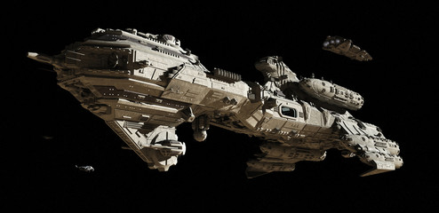 Interstellar Futuristic Escort Frigate