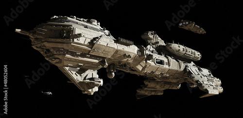 canvas print picture Interstellar Futuristic Escort Frigate