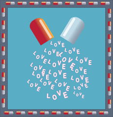 Drug of love vector abstract design