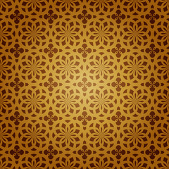 Seamless Geometric Islamic Art Pattern