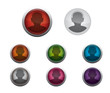 Glossy Contact Buttons