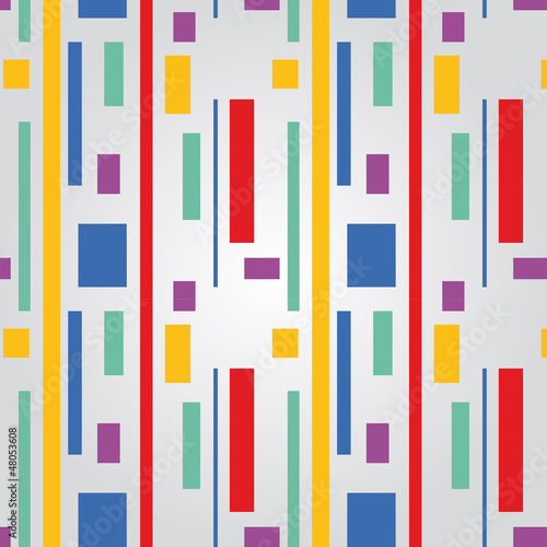 Colors Lines And Squares Seamless Pattern