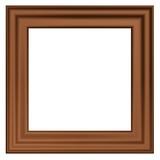 Wooden frame. 3D render. poster