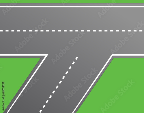 Road Intersection, Road Vector