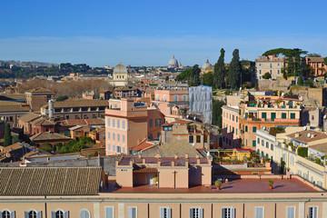 Roma - Rione Campitelli visto dagli Orti Farnesiani