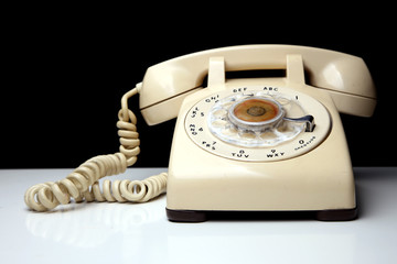 Retro telephone with rotary dialing